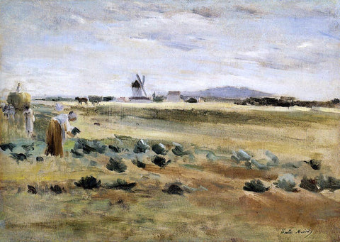 Berthe Morisot The Little Windmill at Gennevilliers - Hand Painted Oil Painting