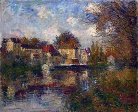 Gustave Loiseau The Loing at Moret - Hand Painted Oil Painting