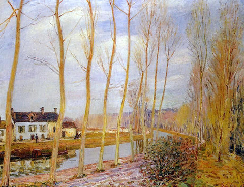 Alfred Sisley The Loing Canal at Moret - Hand Painted Oil Painting