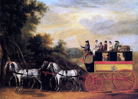 John Cordrey The London and Taunton Omnibus on the Open Road - Hand Painted Oil Painting