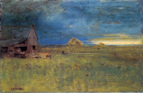 George Inness The Lone Farm, Nantucket - Hand Painted Oil Painting