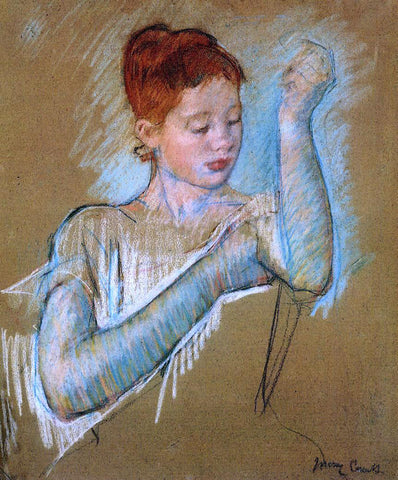 Mary Cassatt The Long Gloves - Hand Painted Oil Painting