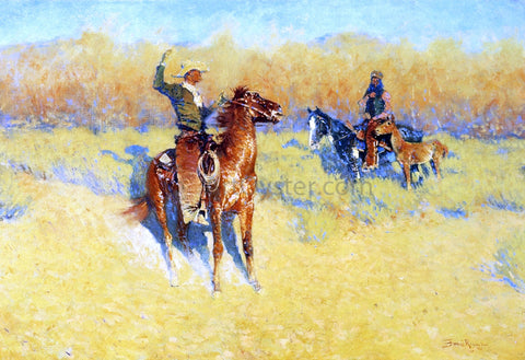 Frederic Remington The Long-Horn Cattle Sign - Hand Painted Oil Painting