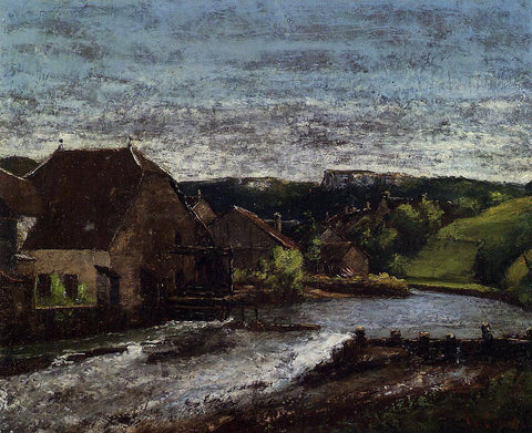 Gustave Courbet The Loue Valley - Hand Painted Oil Painting