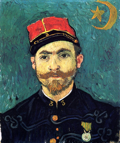 Vincent Van Gogh The Lover, Portrait of Paul--Eugene Milliet (also known as Portrait of Lieutanant Milliet) - Hand Painted Oil Painting