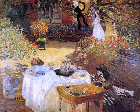 Claude Oscar Monet The Luncheon - Hand Painted Oil Painting