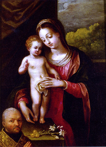 Lavinia Fontana The Madonna and Child with a Donor - Hand Painted Oil Painting