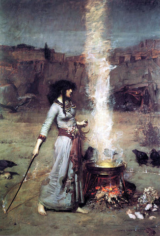 John William Waterhouse The Magic Circle - Hand Painted Oil Painting