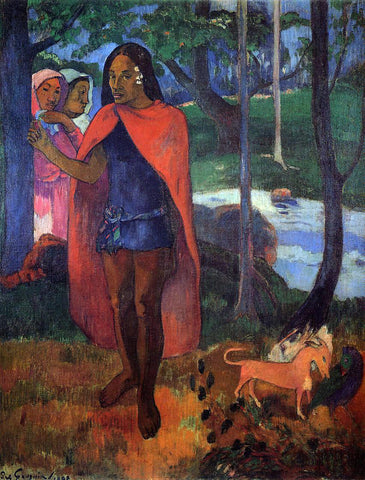 Paul Gauguin The Magician of Hivaoa - Hand Painted Oil Painting