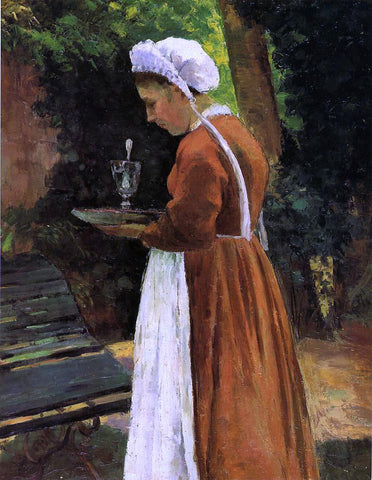 Camille Pissarro The Maidservant - Hand Painted Oil Painting
