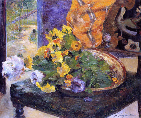Paul Gauguin The Makings of a Bouquet - Hand Painted Oil Painting