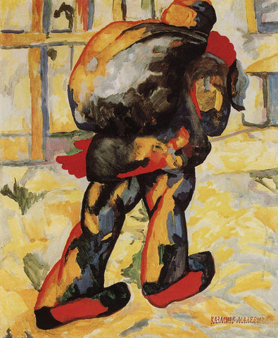 Kazimir Malevich The Man with the Bag - Hand Painted Oil Painting