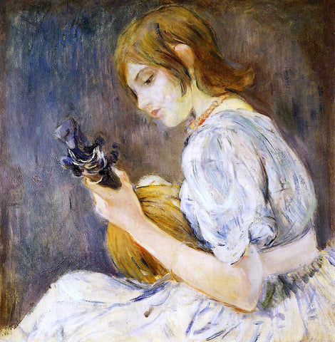 Berthe Morisot The Mandolin - Hand Painted Oil Painting