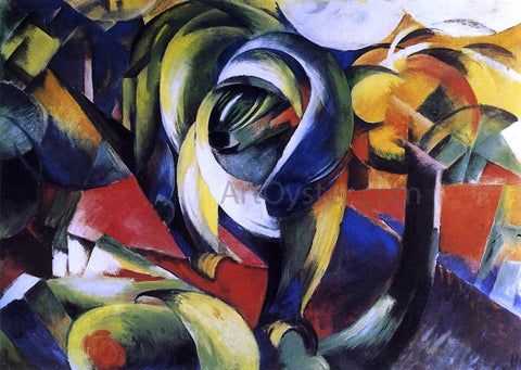 Franz Marc The Mandrill - Hand Painted Oil Painting