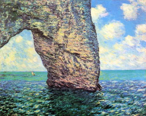 Claude Oscar Monet The Manneport at High Tide - Hand Painted Oil Painting
