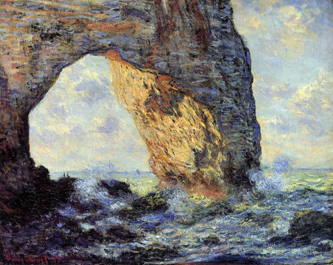 Claude Oscar Monet The Manneport, Etretat - Hand Painted Oil Painting