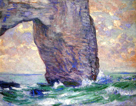 Claude Oscar Monet The Manneport, Seen from Below - Hand Painted Oil Painting