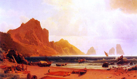 Albert Bierstadt The Marina Piccdola, Capri - Hand Painted Oil Painting