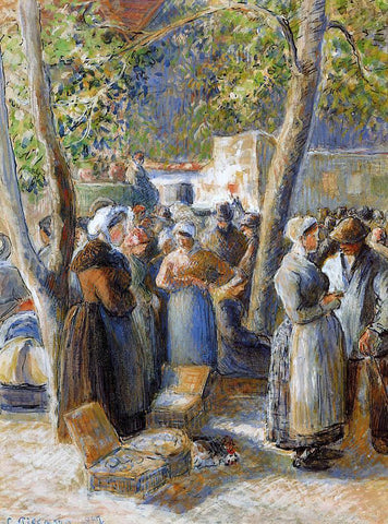 Camille Pissarro The Market in Gisors - Hand Painted Oil Painting
