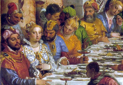 Paolo Veronese The Marriage at Cana [detail: 1] - Hand Painted Oil Painting
