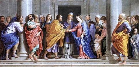 Philippe De Champaigne The Marriage of the Virgin - Hand Painted Oil Painting