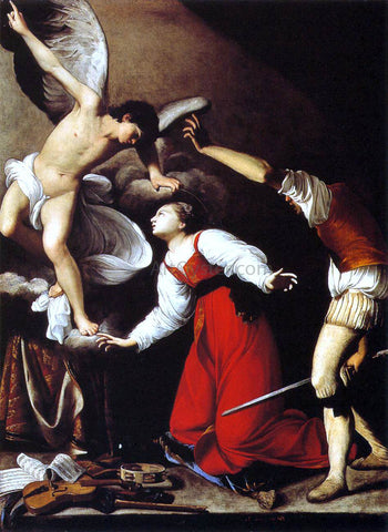 Carlo Saraceni The Martyrdom of St Cecilia - Hand Painted Oil Painting