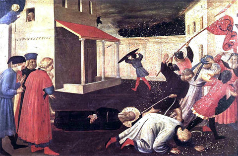 Fra Angelico The Martyrdom of St Mark (Linaioli Tabernacle) - Hand Painted Oil Painting