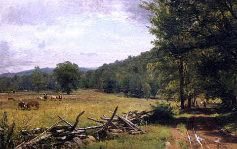 Thomas Worthington Whittredge The Meadow - Hand Painted Oil Painting