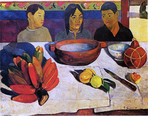 Paul Gauguin The Meal (also known as The Bananas) - Hand Painted Oil Painting