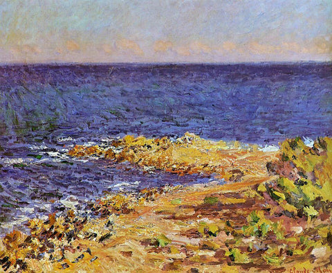 Claude Oscar Monet The Meditarranean at Antibes - Hand Painted Oil Painting