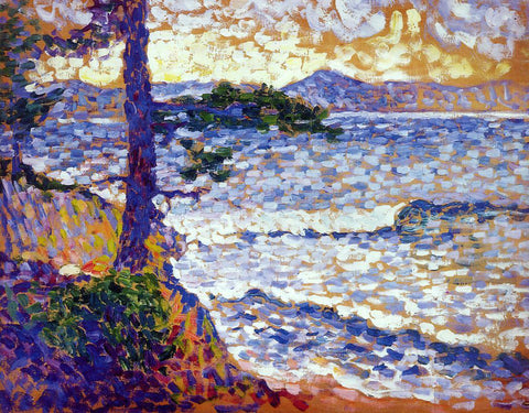 Henri Edmond Cross The Mediterranean Coast - Hand Painted Oil Painting