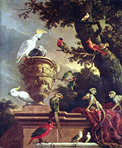 Melchior D'Hondecoeter The Menagerie - Hand Painted Oil Painting