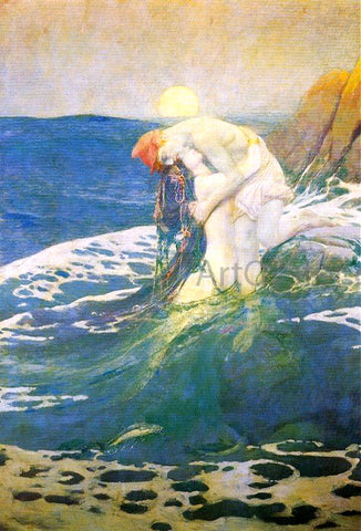 Howard Pyle The Mermaid - Hand Painted Oil Painting