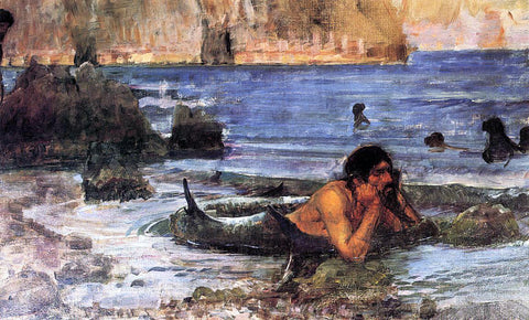 John William Waterhouse The Merman (sketch) - Hand Painted Oil Painting