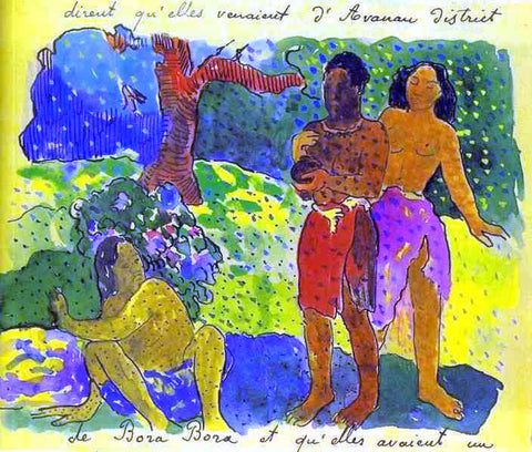 Paul Gauguin The Messengers of Oro - Hand Painted Oil Painting