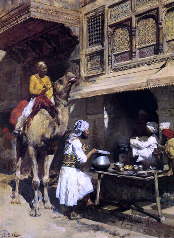 Edwin Lord Weeks The Metalsmith's Shop - Hand Painted Oil Painting