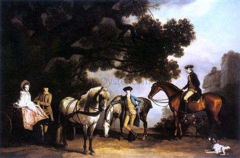 George Stubbs The Milbanke and Melbourne Families - Hand Painted Oil Painting