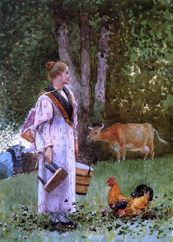 Winslow Homer The Milk Maid - Hand Painted Oil Painting