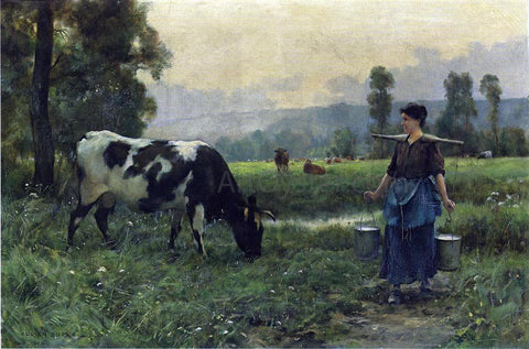 Julien Dupre The Milkmaid - Hand Painted Oil Painting