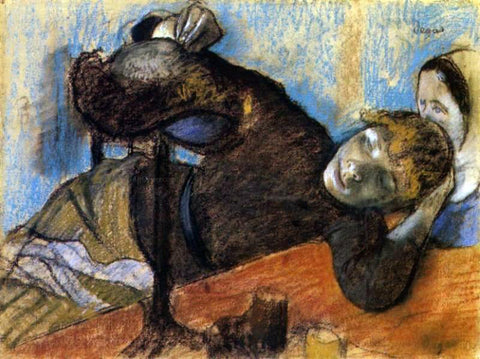 Edgar Degas The Milliner - Hand Painted Oil Painting