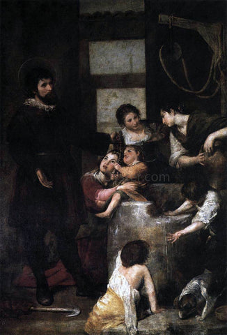 Alonso Cano The Miracle at the Well - Hand Painted Oil Painting