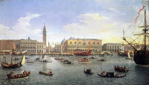 Caspar Andriaans Van Wittel The Molo Seen from the Bacino di San Marco - Hand Painted Oil Painting