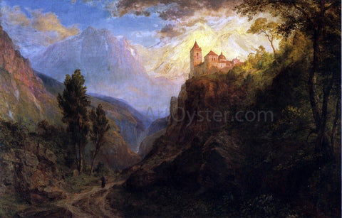 Frederic Edwin Church The Monastery of San Pedro - Hand Painted Oil Painting