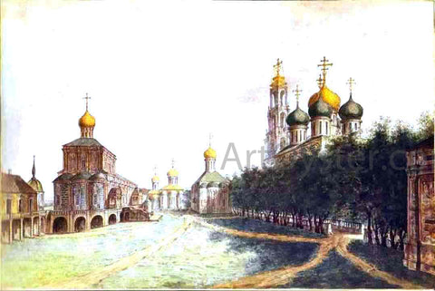 Fedor Yakovlevich Alekseev The Monastery of Trinity and St. Sergius - Hand Painted Oil Painting