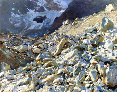 John Singer Sargent The Moraine - Hand Painted Oil Painting