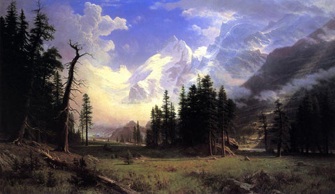Albert Bierstadt The Morteratsch Glacier, Upper Engadine Valley, Pontresina - Hand Painted Oil Painting
