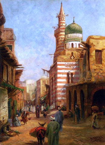 Bruno Richter The Mosque of Aytmish al-Bagazi, Old Cairo - Hand Painted Oil Painting