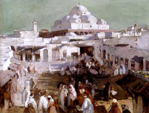Elizabeth Nourse The Mosque, Tunis - Hand Painted Oil Painting