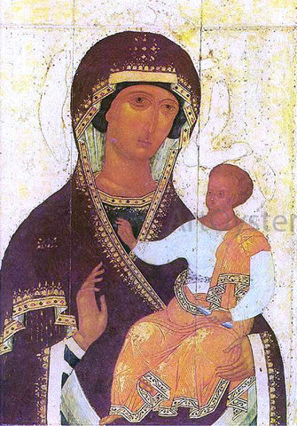 Dionysius The Mother of God Hodigitria - Hand Painted Oil Painting