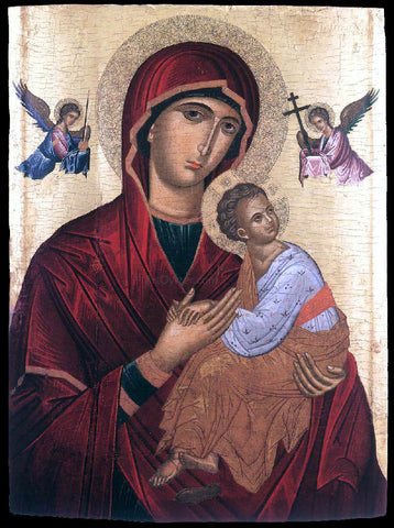 Andreas Ritzos The Mother of God of Passion - Hand Painted Oil Painting